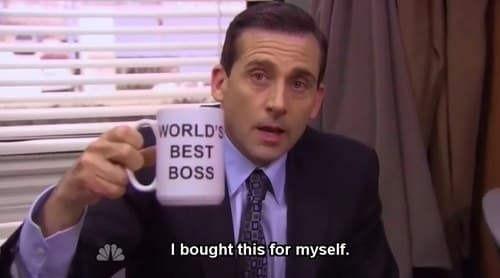 Worlds best boss Michael Scott