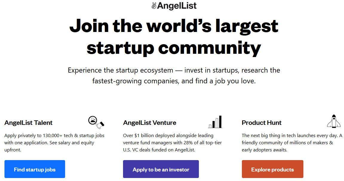list of job boards AngelList