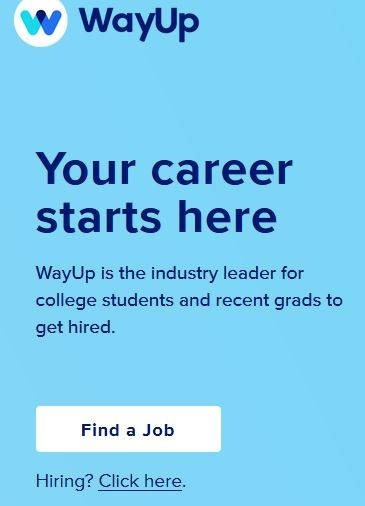 list of job boards WayUp