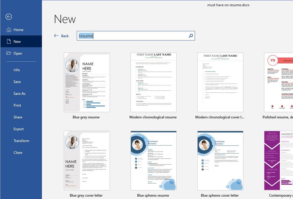 Resume tips Format