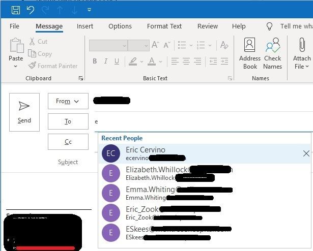 Autofill email address